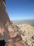 Rock Climbing Photo: Looking back to Vegas