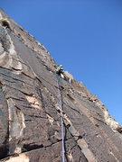 Rock Climbing Photo: Dow enjoying solid rock on P3.