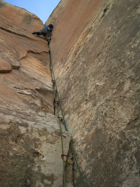 Rock Climbing Photo: Fighting through the OW bulge