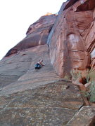 Rock Climbing Photo: Second pitch, The Pillar of Faith, on Monkeyfinger...
