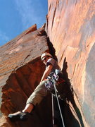 Rock Climbing Photo: Sixth pitch of Monkeyfinger, the 5.10 OW