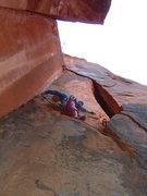 Rock Climbing Photo: Seventh pitch of Monkeyfinger