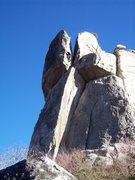 "Rock Climbing Photo: Josh starting up ""Penny Candy"""