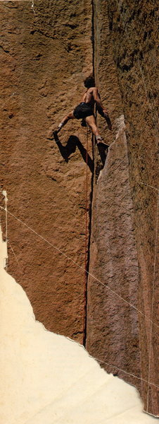 Buck Norden on Prayer Book aka 2nd pitch of Wunsch's Dihedral. Photo is by either Bob Godfrey or Dudley Chelton.