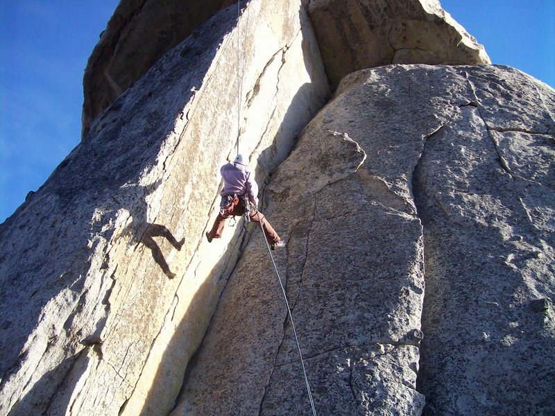 "Rock Climbing Photo: Alanna swinging across ""Lean and Mean"" o..."