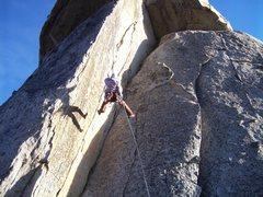 "Rock Climbing Photo: Alanna swinging across ""Lean and Mean"" o..."