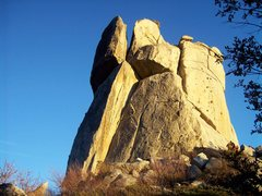 Rock Climbing Photo: The late November evening sun and Middle Spire