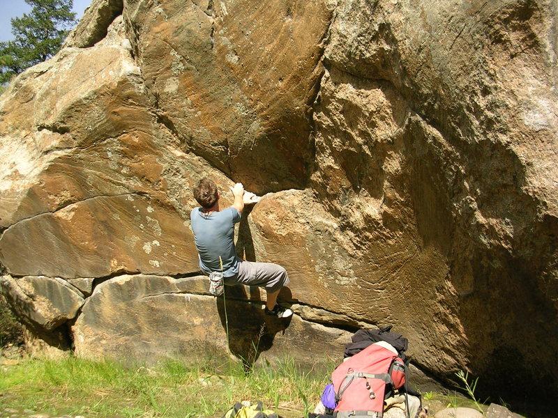 Rock Climbing Photo: Left Scoop dyno.