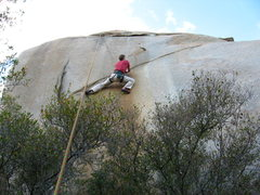 Rock Climbing Photo: the seam crux