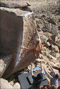 "Rock Climbing Photo: Chris Geis on ""Atari"". Photo by Blitzo."