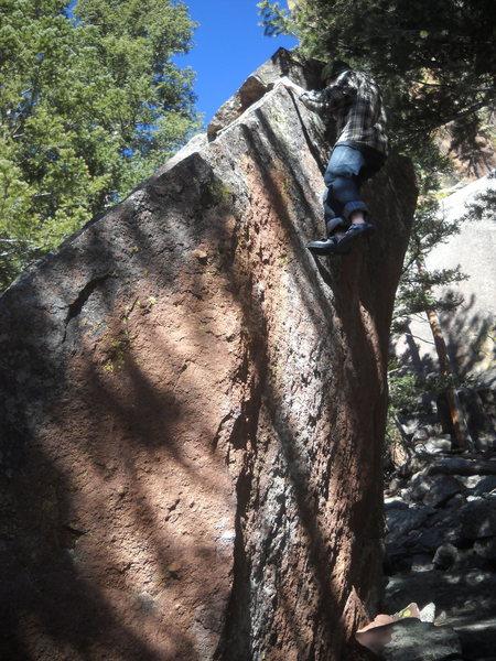 Rock Climbing Photo: Gabe Meyers on sight on the Diamondhead Left Arete...