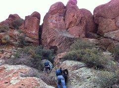 Rock Climbing Photo: Approaching stormwatch wall
