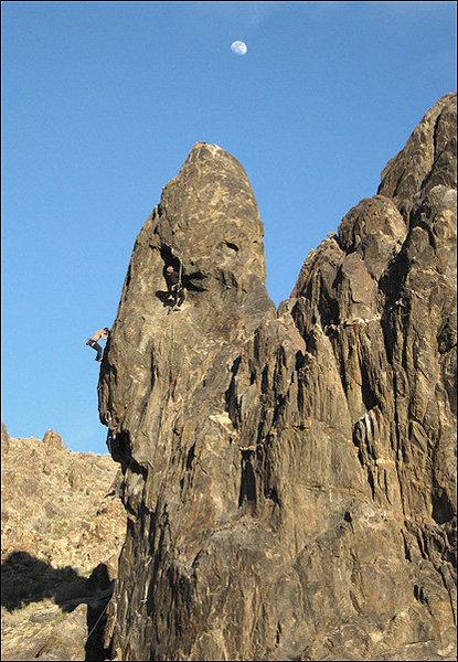 Rock Climbing Photo: Climbers on Crucified Crag. Photo by Blitzo.