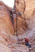 Rock Climbing Photo: Smokin' Guns, 5.11c, Atlantis, AZ