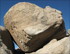 Rock Climbing Photo: Bulging Grain Boulder. Photo by Blitzo.