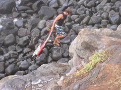 Rock Climbing Photo: Getting in 10