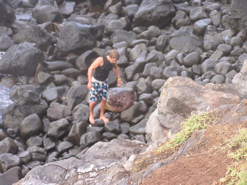 Rock Climbing Photo: Getting in 13