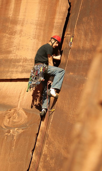 Rock Climbing Photo: mike on unamed 5.10, cat wall
