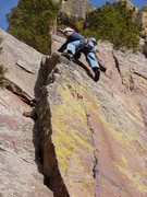 Rock Climbing Photo: Near the top. Photo: Roth.