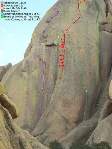 Rock Climbing Photo: I think I got the route right...