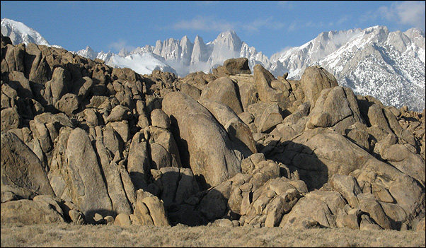 Tall Wall Area and Mt. Whitney.<br> Photo by Blitzo.