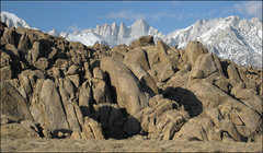 Rock Climbing Photo: Tall Wall Area and Mt. Whitney. Photo by Blitzo.
