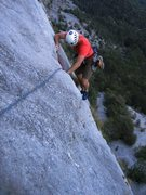 Rock Climbing Photo: Coming up the second pitch of Via Trento