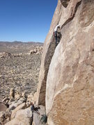 Rock Climbing Photo: Contemplating the crux on Light Sabre.