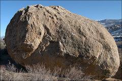 Rock Climbing Photo: Tut Boulder Northwest side. Photo by Blitzo.