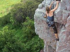 Rock Climbing Photo: Behind The Tree post crux