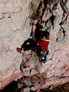 Rock Climbing Photo: Layback Crack onsight with tricky pro