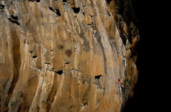 Rock Climbing Photo: David Bloom on Rough Around the Edges .11, Main Am...