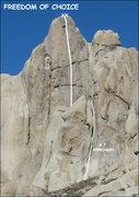 "Rock Climbing Photo: ""Freedom of Choice"". Photo by Blitzo."