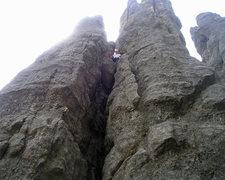 Rock Climbing Photo: Alex on moving finger