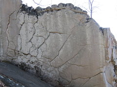 Rock Climbing Photo: Graham Crackers boulder. The arete on the right is...