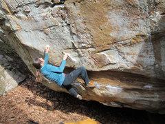 Rock Climbing Photo: Janelle on Cyclops (left)