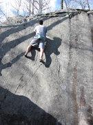 Rock Climbing Photo: Luke on the Rib.