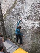 Rock Climbing Photo: Janelle on the Monodoigt.