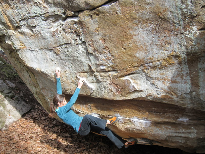 Rock Climbing Photo: Janelle on Cyclops, the Blacksmith traverses in fr...