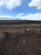Rock Climbing Photo: tableland petroglyphs  note: this area is off-limi...