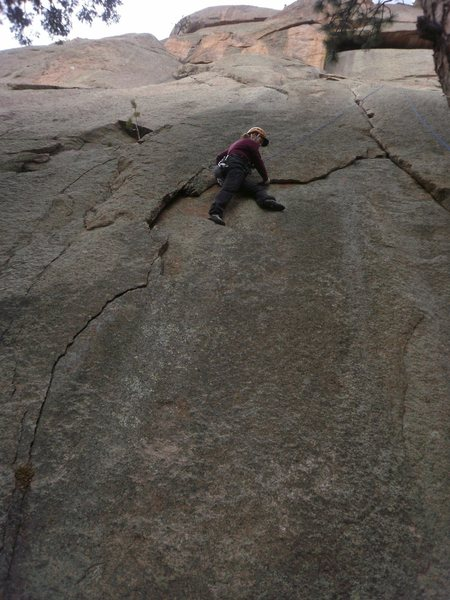 Rock Climbing Photo: A TR up the variation.