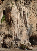 Rock Climbing Photo: Route goes up the left part of this flowstone form...