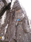 Rock Climbing Photo: James Loveridge on the FA.