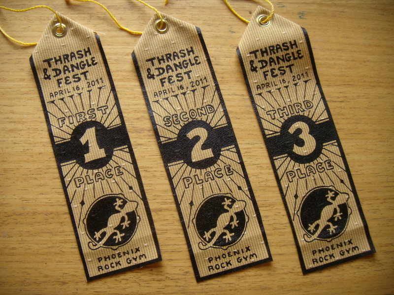 2011 Thrash & Dangle Fest ribbons