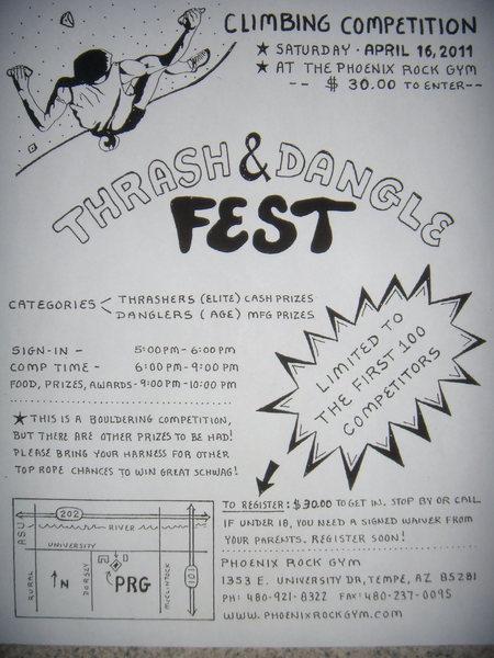 2011 Thrash & Dangle Fest info<br> Phoenix Rock Gym