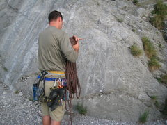 Rock Climbing Photo: If you look the name is etched at the base. The na...