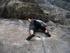 Rock Climbing Photo: Start of Boiacca at Massone