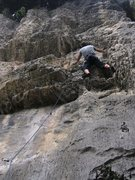 Rock Climbing Photo: Turning the roof on the right on Boiacca