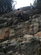 Rock Climbing Photo: Near the top of Tullio e l'amore