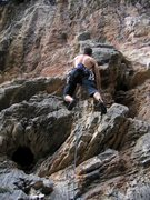 Rock Climbing Photo: Getting started on the steep jugs of Over Booking